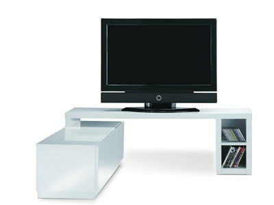 meuble tv conforama meuble tv pivotant costy blanc prix 279 30 euros. Black Bedroom Furniture Sets. Home Design Ideas