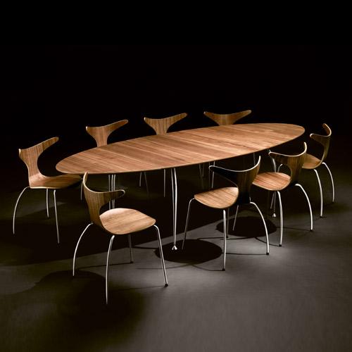 Meubles Decoclico Table A Manger Ovale Avec Rallonge En Bois