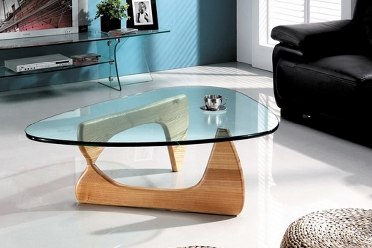 Table basse declikdeco table basse design en bois et verre Design interieur table basse en bois