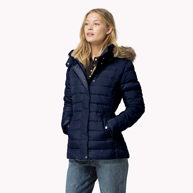 Doudoune Tommy Hilfiger MAINE DOWN COAT Marron Doudoune