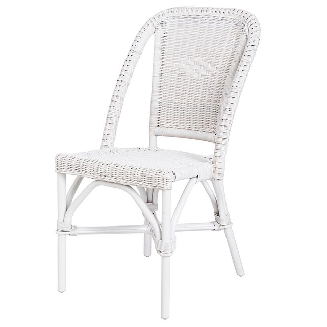 Chaise en rotin blanc selva rotin design lot de 6 chaises for Soldes chaises