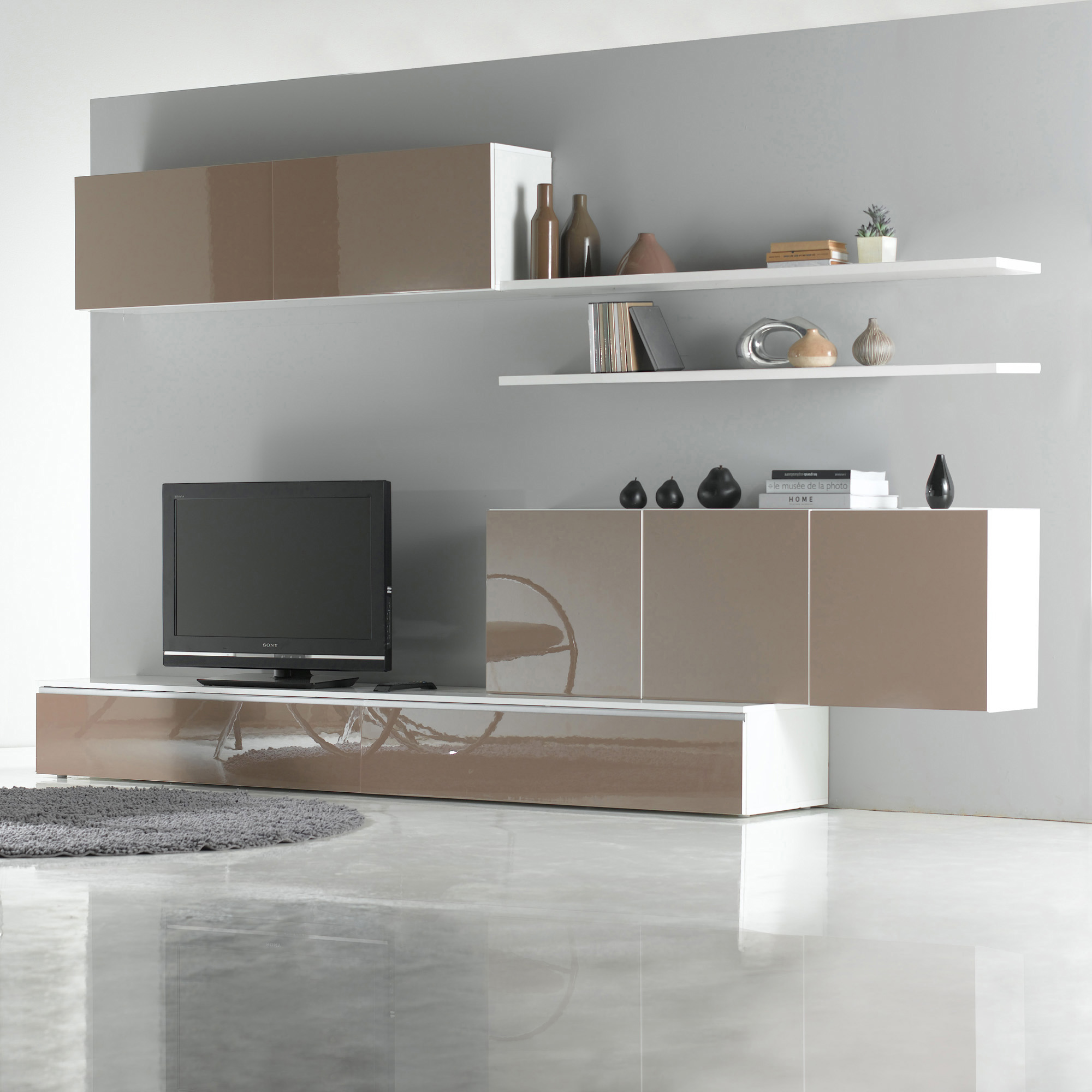 Meubles Tv Originaux Best Meuble Tv Suspendu Design Awesome  # Meuble Tv Beige Blanc