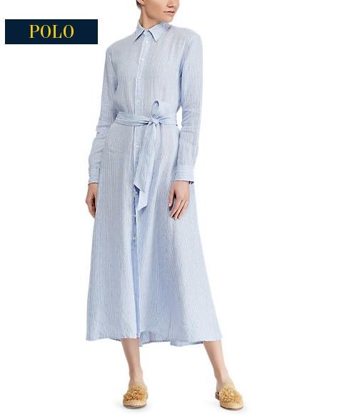 Robe portefeuille en crêpe à motifs Ralph Lauren