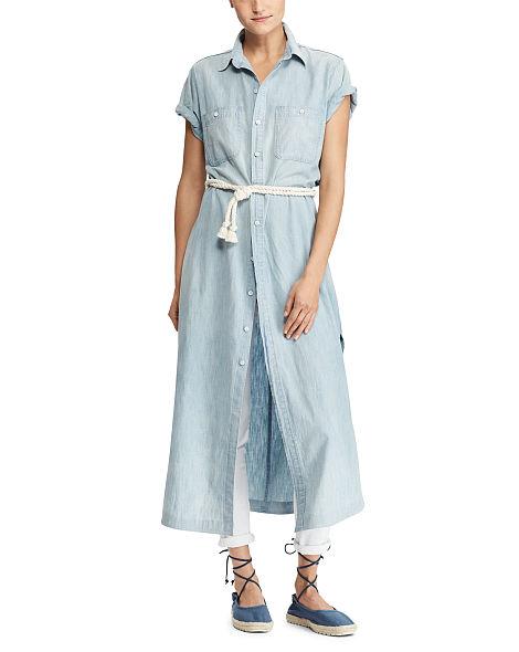 Robe-chemise en lin et coton Polo Ralph Lauren