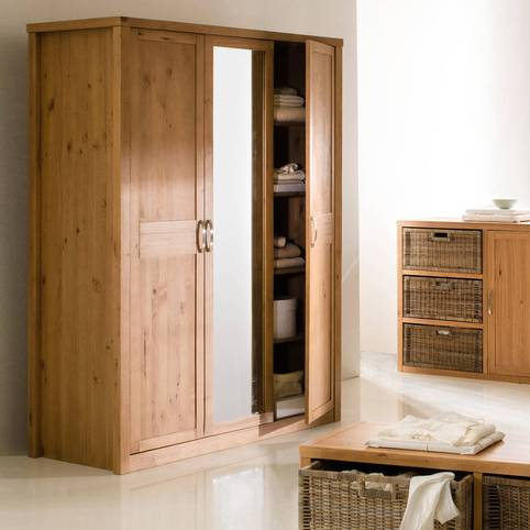 armoire penderie 3 portes miroir helsinki armoire 3. Black Bedroom Furniture Sets. Home Design Ideas
