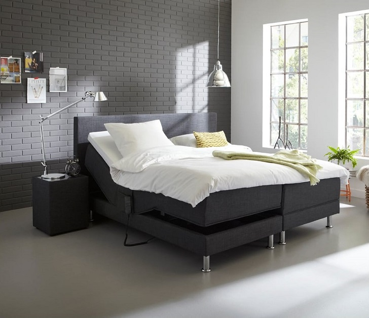 ensemble boxspring relaxation electrique 160x200cm monaco literie auchan. Black Bedroom Furniture Sets. Home Design Ideas