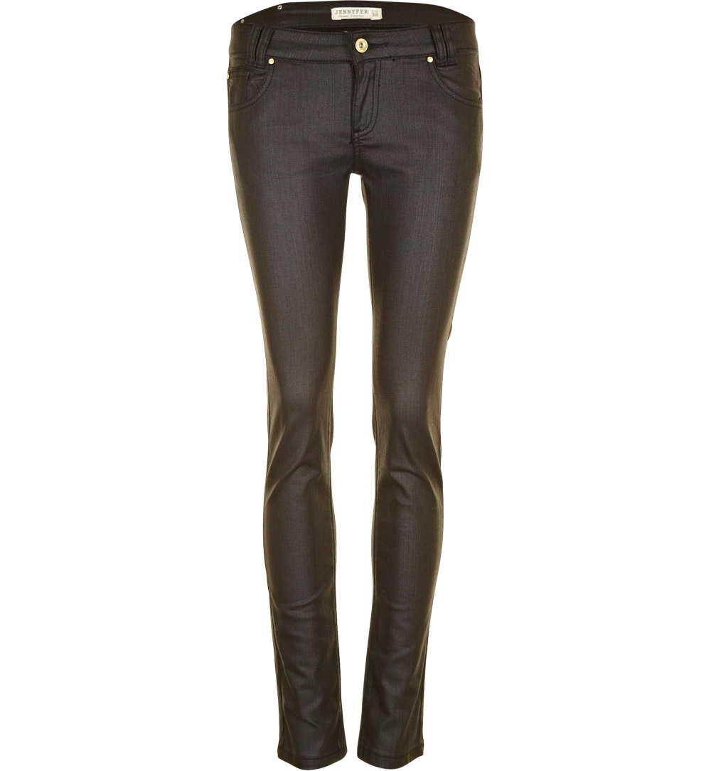 pantalon jennyfer pantalon slim enduit noir p0enduit. Black Bedroom Furniture Sets. Home Design Ideas