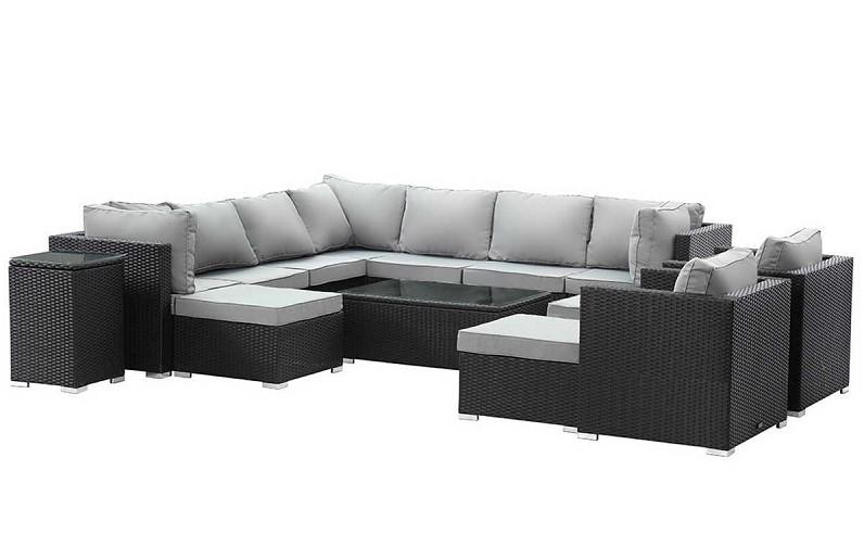 salon de jardin r sine tress e floride xl atlanta noir habitat et jardin salon de jardin. Black Bedroom Furniture Sets. Home Design Ideas