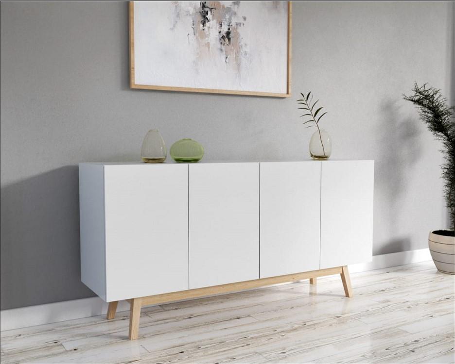 bahut scandinave snow portes tiroirs lcm auchan with enfilade scandinave pas cher. Black Bedroom Furniture Sets. Home Design Ideas