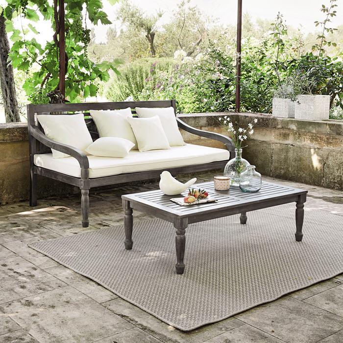Banquette de jardin 3 places Chypre - Canapé de Jardin Maisons du ...