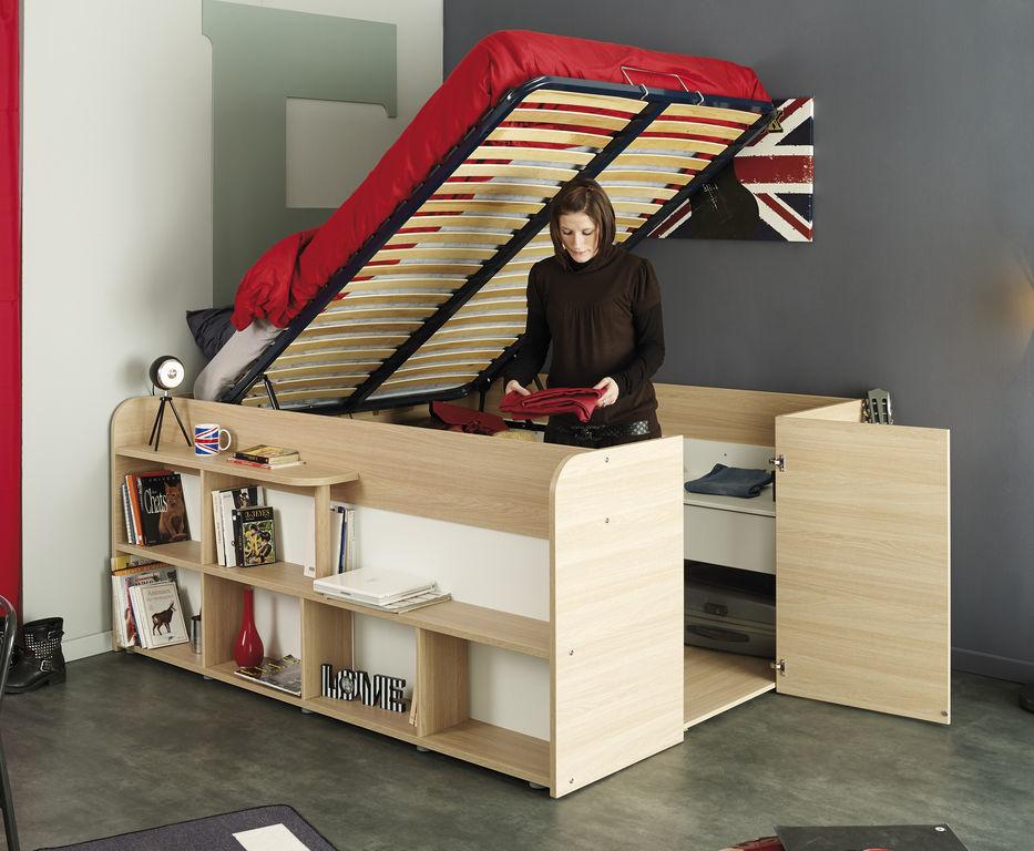 Last meubles lit studio loft blanc pas cher soldes lit for Meuble loft pas cher