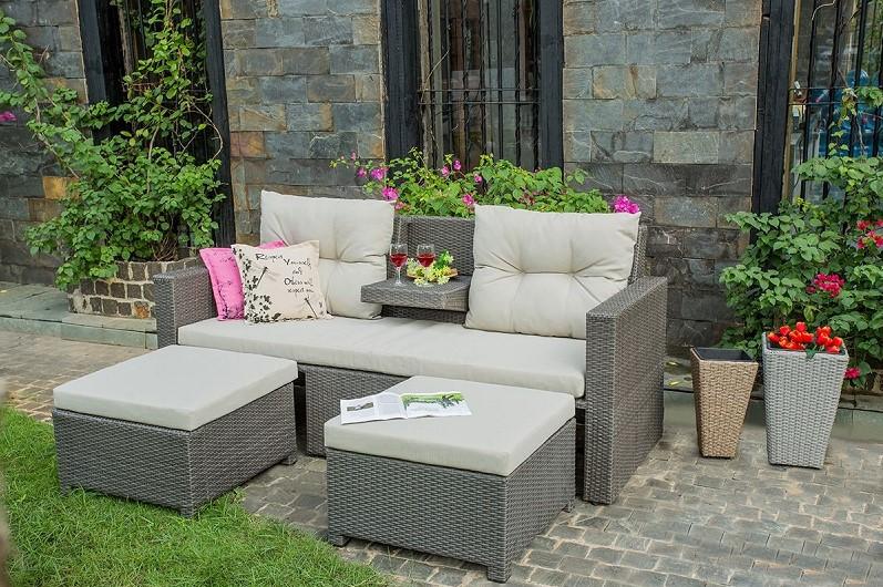 Canap de jardin love r sine tress e rotin design canap for Canape jardin design