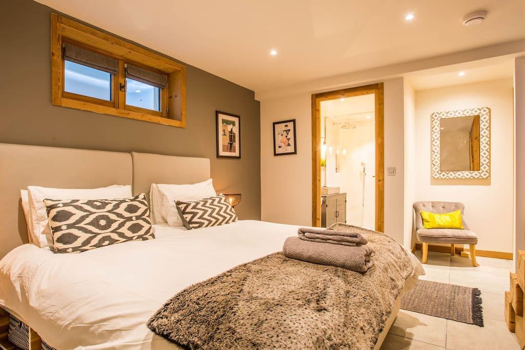 Airbnb - Location Luxueux appartement à Chamonix d'une chambre avec jacuzzi en Haute Savoie