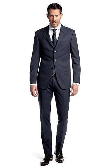 Costume en pure laine vierge Ratcher/Crow Hugo Boss, Soldes Costume Hugo Boss
