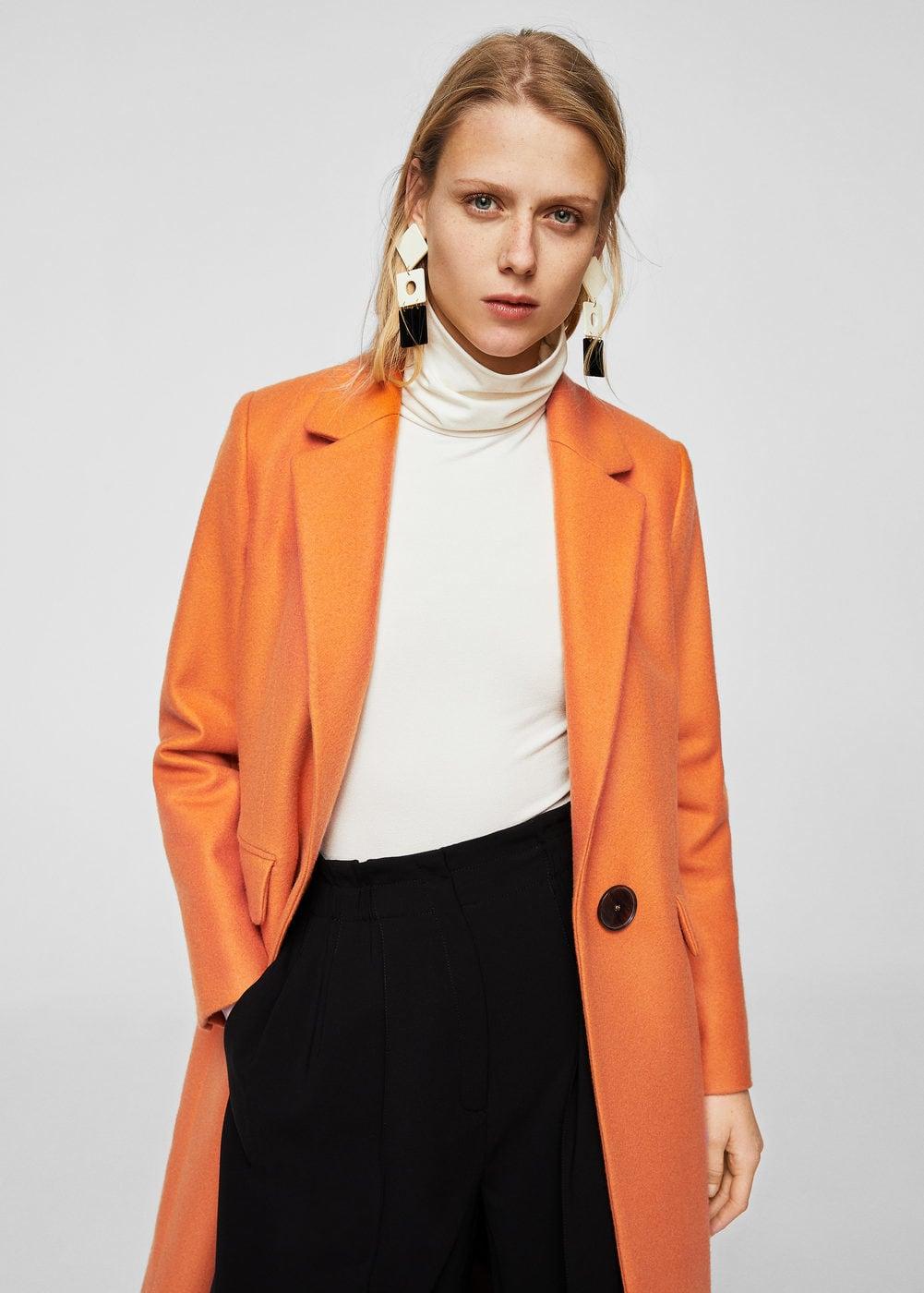 Mango CITRUS Manteau Classique Orange