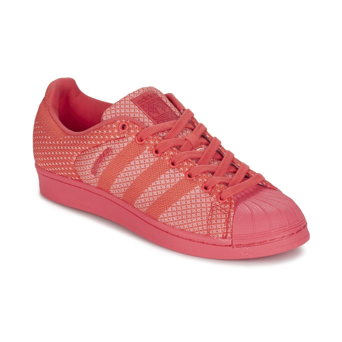 Baskets basses Adidas Originals SUPERSTAR WEAVE Corail, Baskets Femme Spartoo