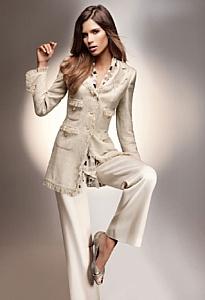 La veste longue beige Elégance