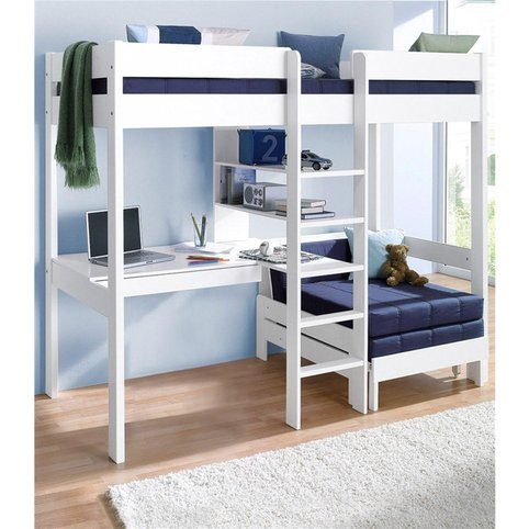 lit mezzanine avec plan de travail tag res lit enfant 3 suisses. Black Bedroom Furniture Sets. Home Design Ideas