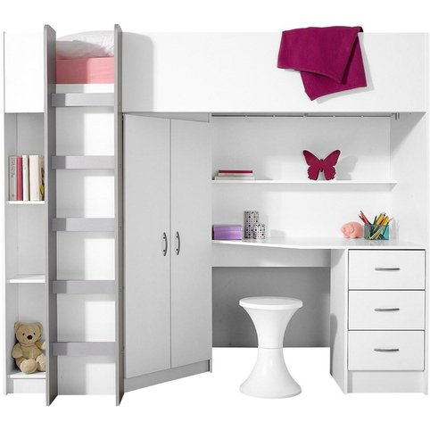 lit mezzanine avec plan de travail armoire lit enfant 3 suisses. Black Bedroom Furniture Sets. Home Design Ideas