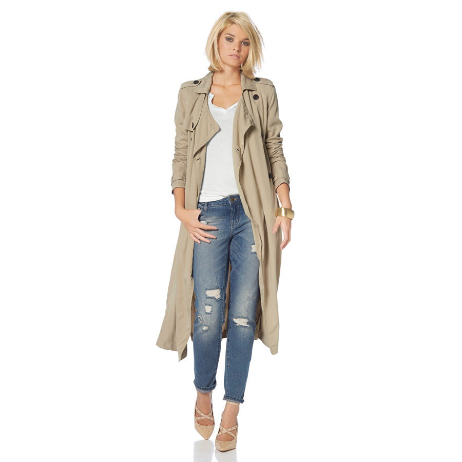 Trench-coat long femme Laura Scott - Trench 3 Suisses