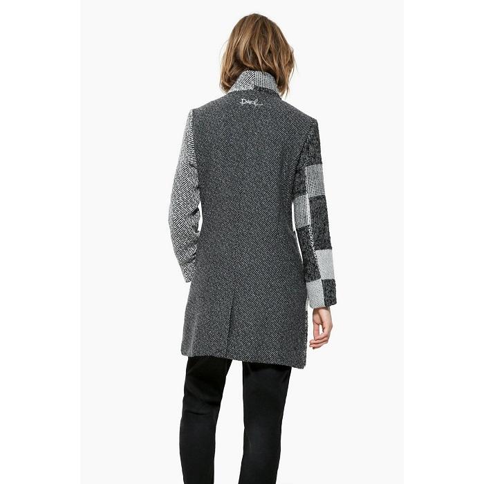 manteau jacquard laine femme desigual manteau femme 3. Black Bedroom Furniture Sets. Home Design Ideas