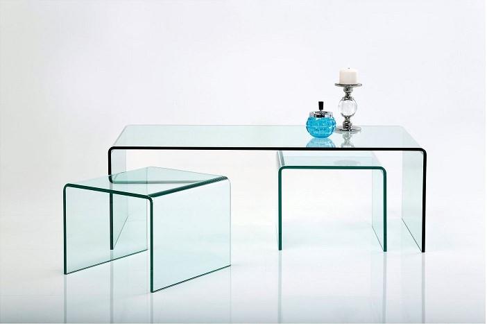 Table basse contemporaine en verre Clear Club Kare Design