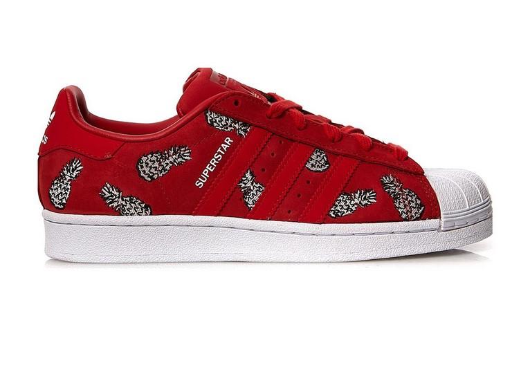 1707863a1449d Adidas Originals Superstar W Baskets Basses en cuir rouge - Baskets ...