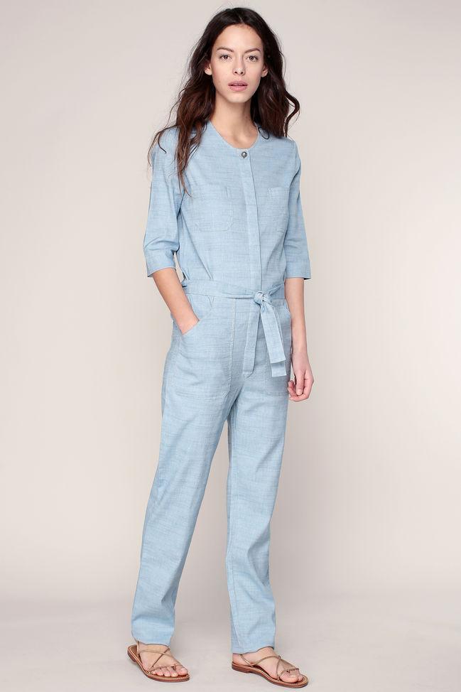 le plus fiable Livraison gratuite dans le monde entier artisanat de qualité Sessun Combi-pantalon ceinturé bleu Belle Star - Combinaison ...