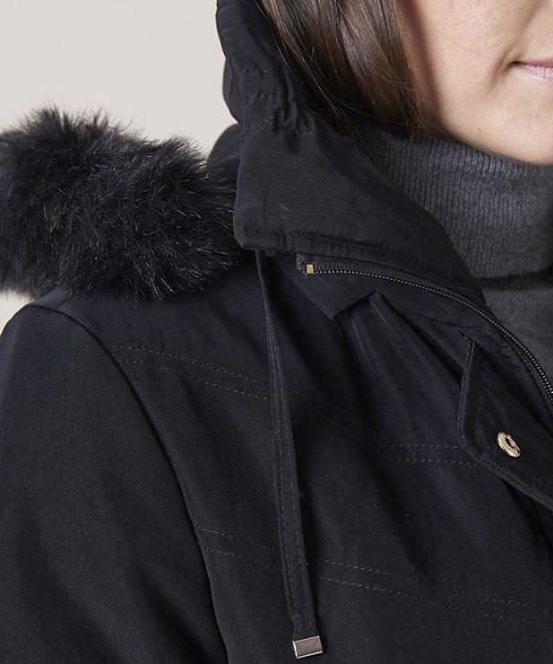 Manteau microfibre déperlante Noir Damart Manteau Femme