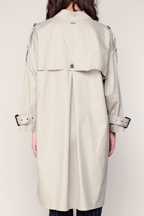 Pepe Jeans Dasha Trench fin beige manches chauve-souris - Monshowroom