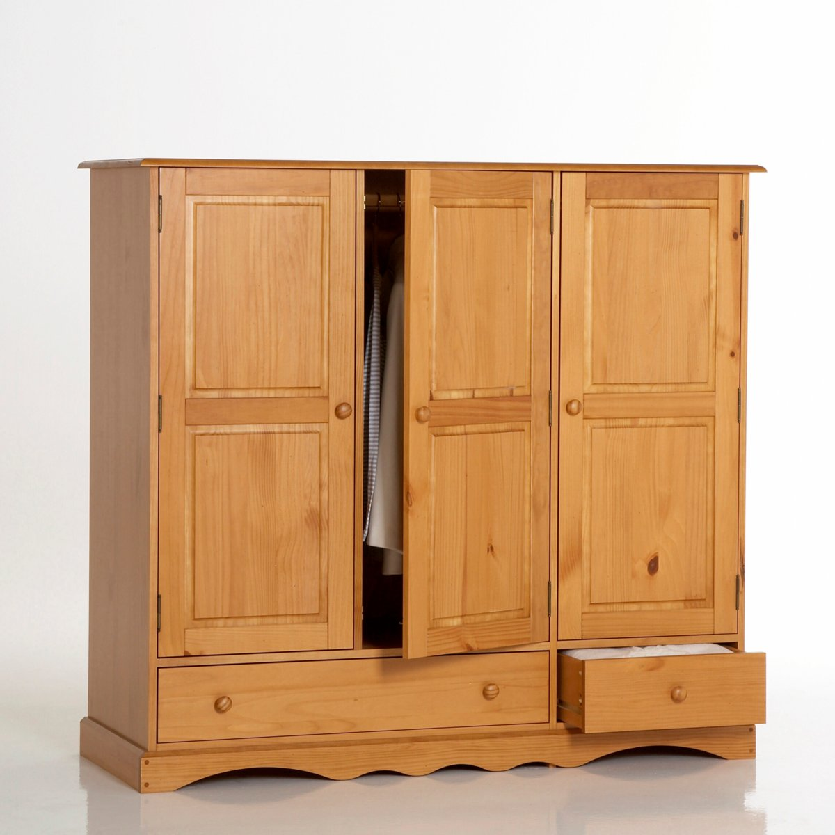 armoire la redoute armoire pin massif h140 cm penderie et ling re prix 249 50 euros. Black Bedroom Furniture Sets. Home Design Ideas