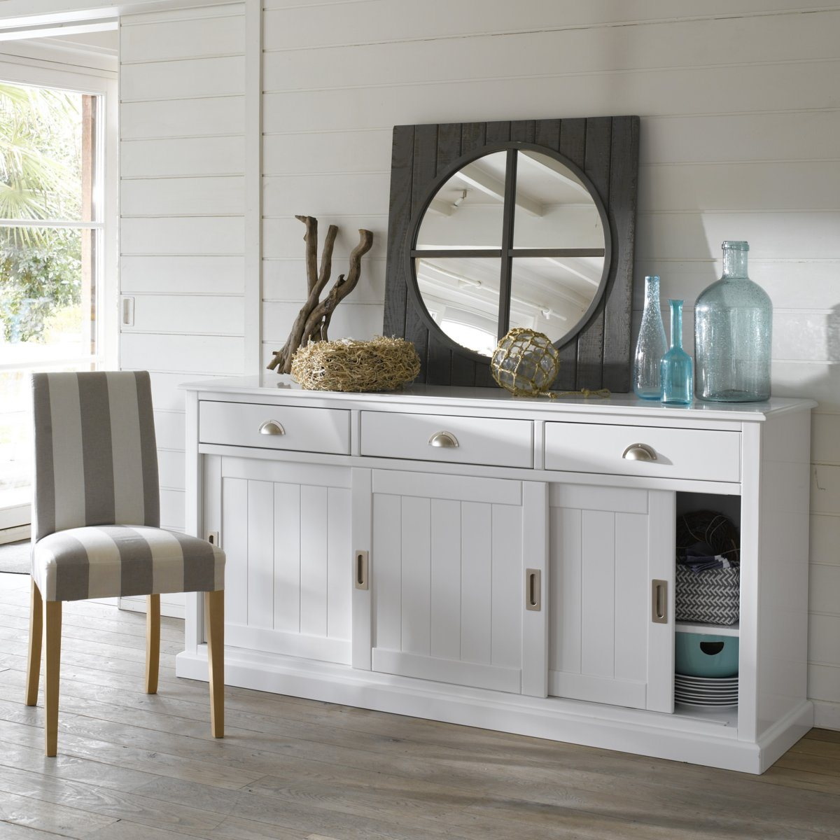Buffet En Pin Sur Iziva Iziva Com # Enfilade Taupe Carrefour