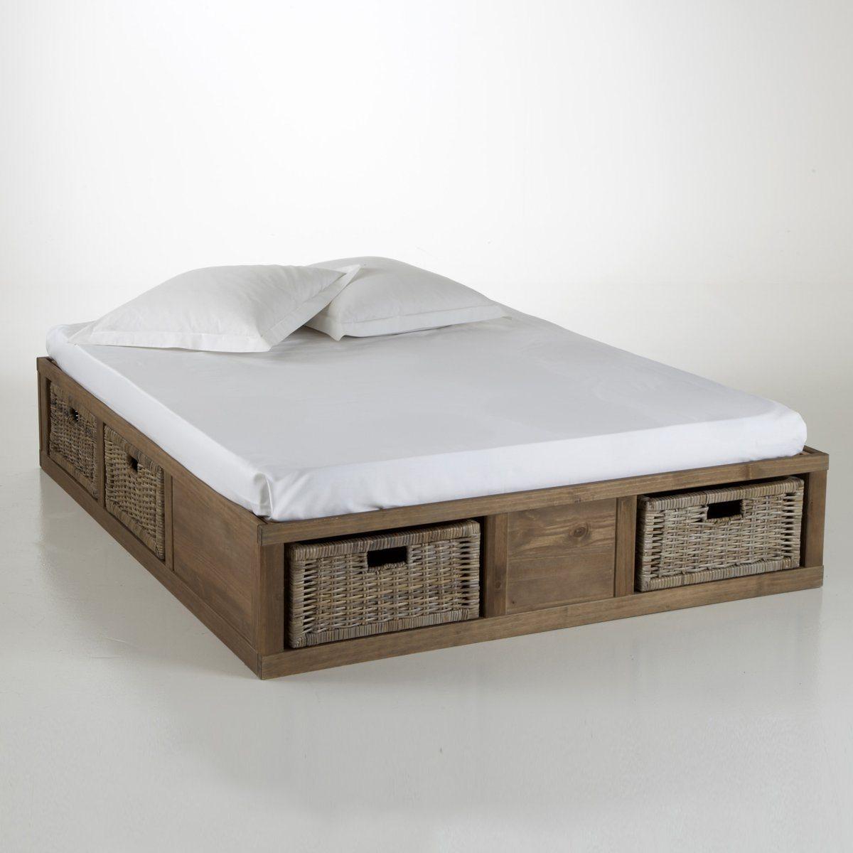 lit rangements pin massif malu lit la redoute. Black Bedroom Furniture Sets. Home Design Ideas