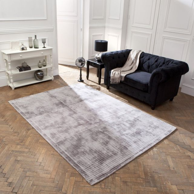 tapis de salon la redoute tapis en viscose imprim rayures. Black Bedroom Furniture Sets. Home Design Ideas