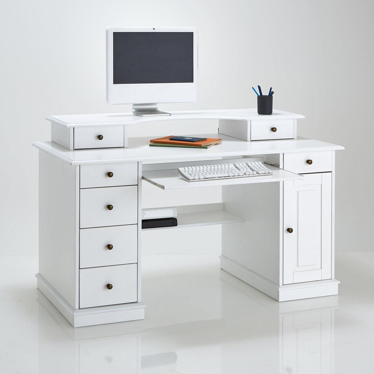 Bureau multim dia authentic style la redoute interieurs Meuble bureau multimedia