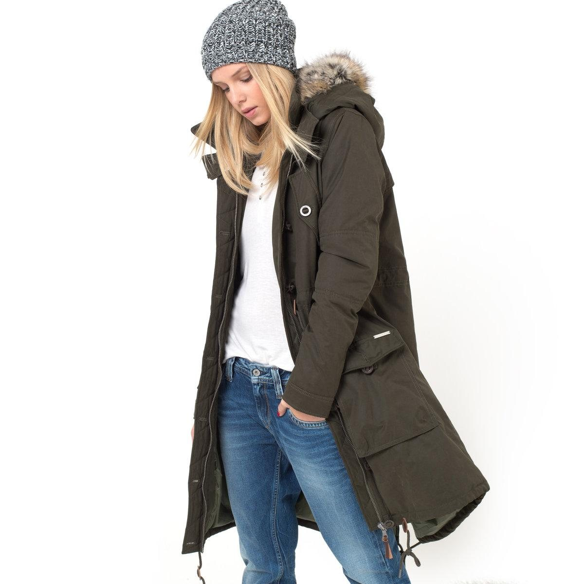 parka pepe jeans parka femme pepe jeans la redoute. Black Bedroom Furniture Sets. Home Design Ideas