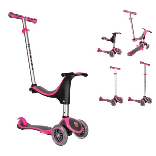 Trottinette My Free Evo 4 en 1 plus rose Globber