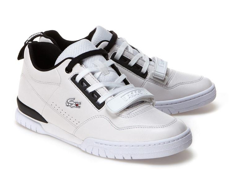ecf14e3cab Sneakers Missouri Lacoste en cuir bicolore - Baskets Femme Lacoste ...