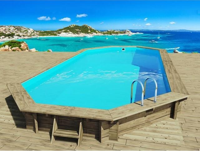 Piscine carrefour habitat et jardin piscine bois hawai for Piscine bois carrefour