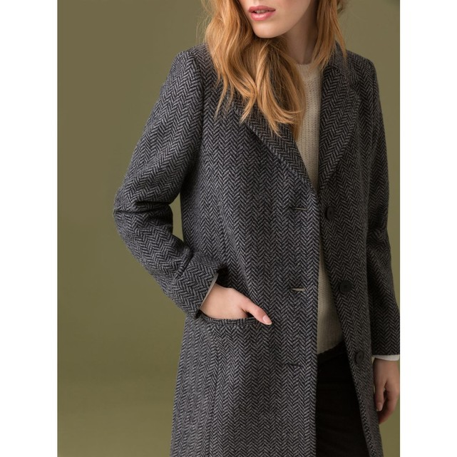 Tweed Somewhere Mujeres La Coat Chevrons Immer OlPXZkTwiu