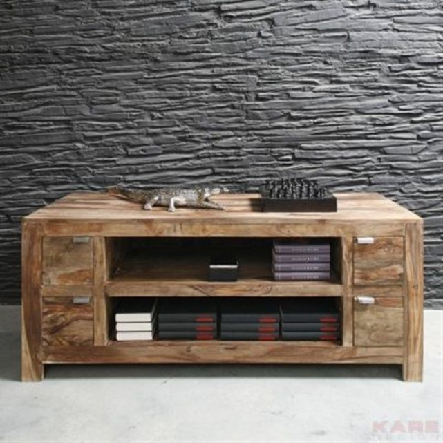 meuble tv authentico kare design meuble tv la redoute. Black Bedroom Furniture Sets. Home Design Ideas