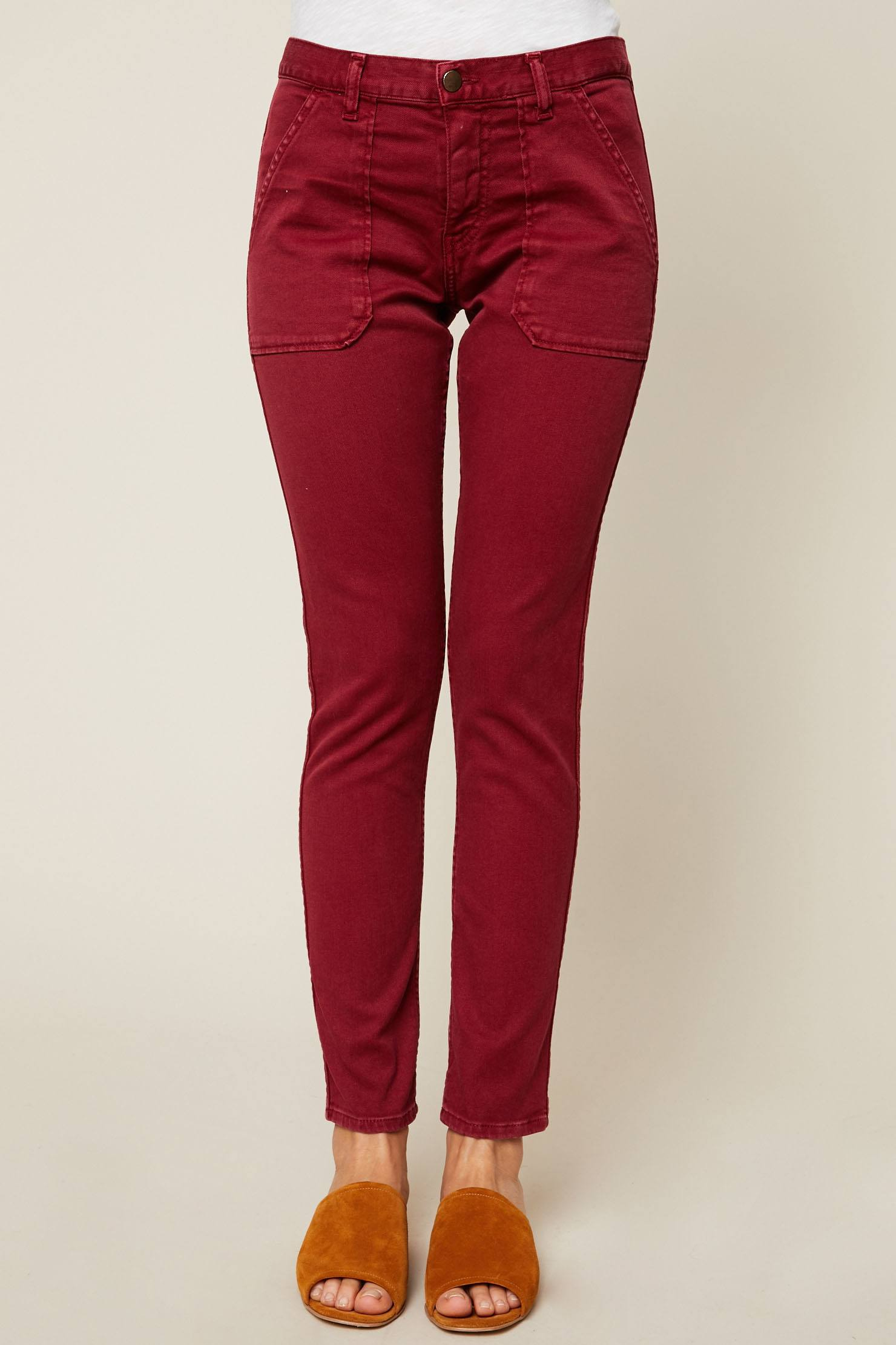 Ba&sh Csally Jean slim bordeaux - Monshowroom