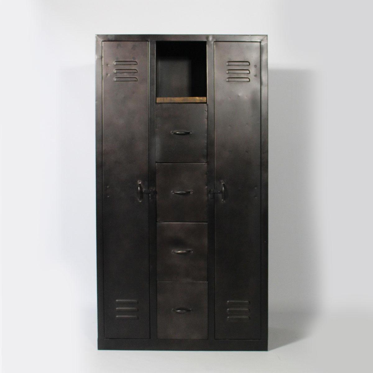 Armoire 2 Portes En Metal Made In Meubles Armoire La Redoute