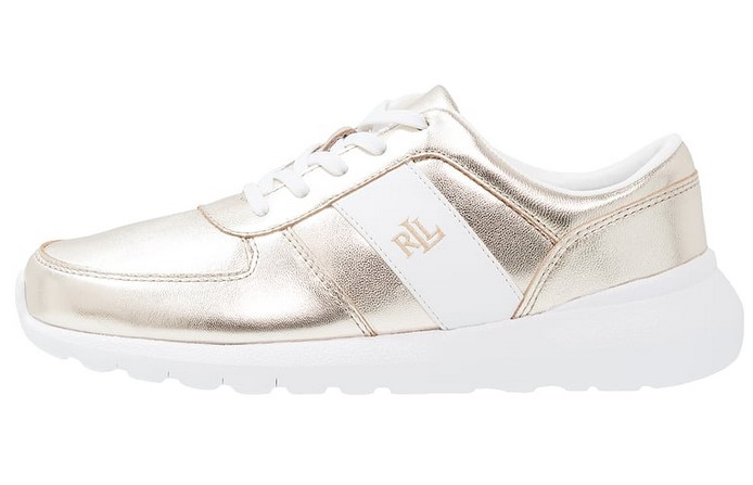 Ralph Lauren JAY-SNEAKERS-ATHLETIC-SHOE Doré / Blanc