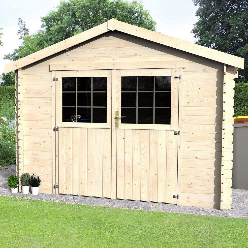 Cabanon De Jardin Pas Cher abri de jardin en bois norvège 9,06 m² pas cher - abri de
