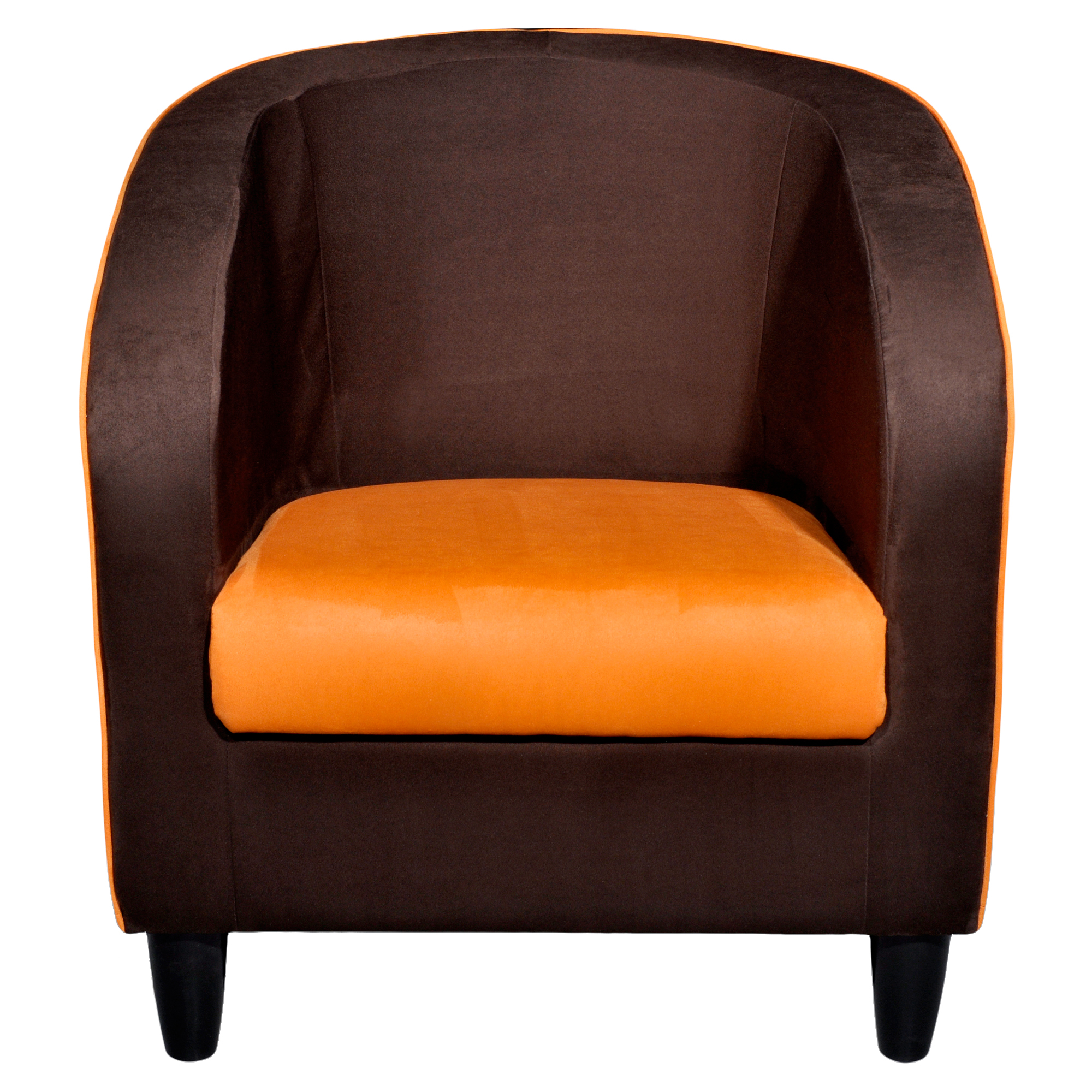 fauteuil la maison de valerie cabriolet moon marron orange. Black Bedroom Furniture Sets. Home Design Ideas