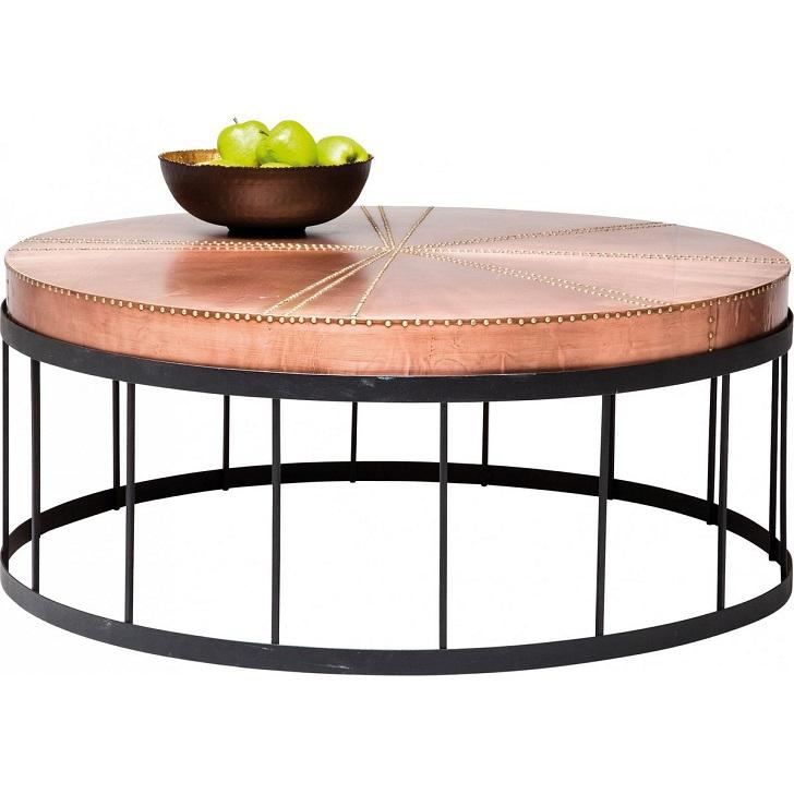 Table Basse Ronde Rivet Copper Kare Design Table Basse La Redoute