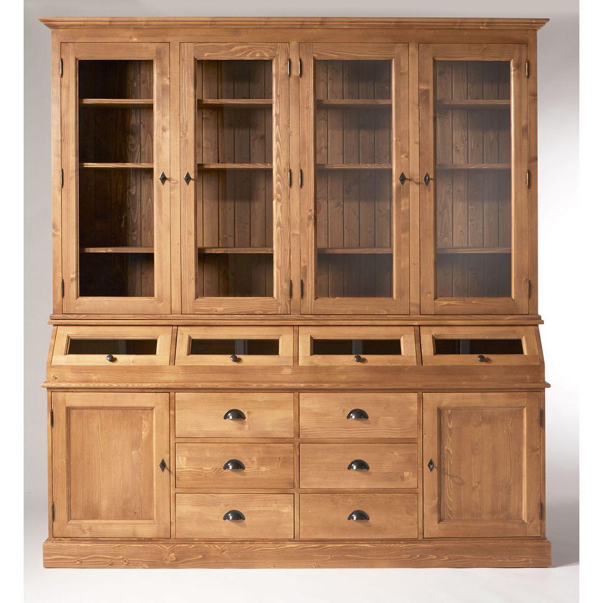 Meuble En Pin Ciré meuble vaisselier made in meubles 4 trappes en pin massif
