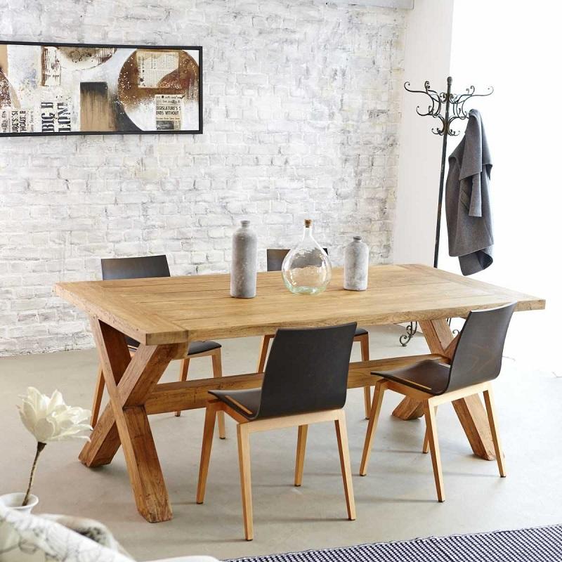 Table Rectangulaire Bois Dessus Bois Dessous Soldes Table