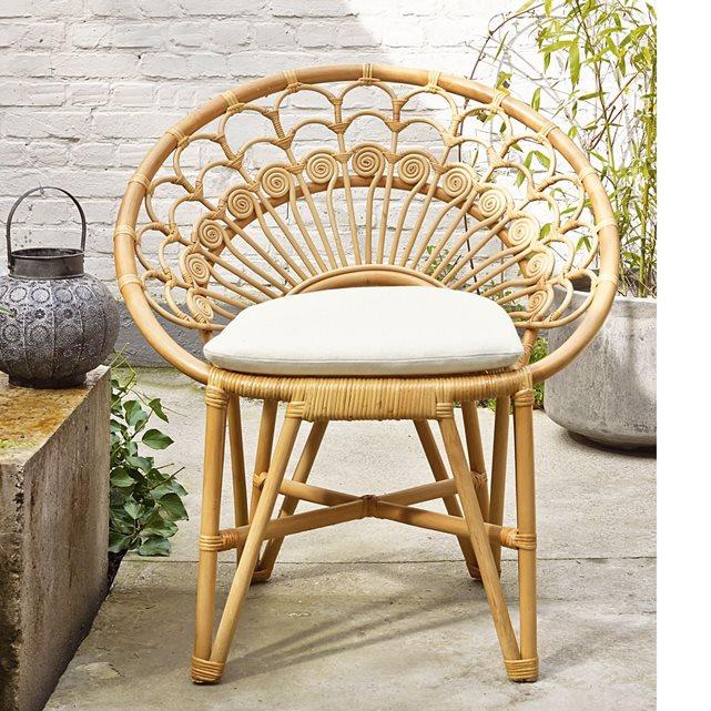 fauteuil de jardin moelle de rotin naturel la redoute interieurs